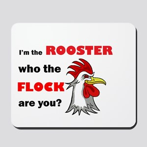 Who the flock tee Mousepad