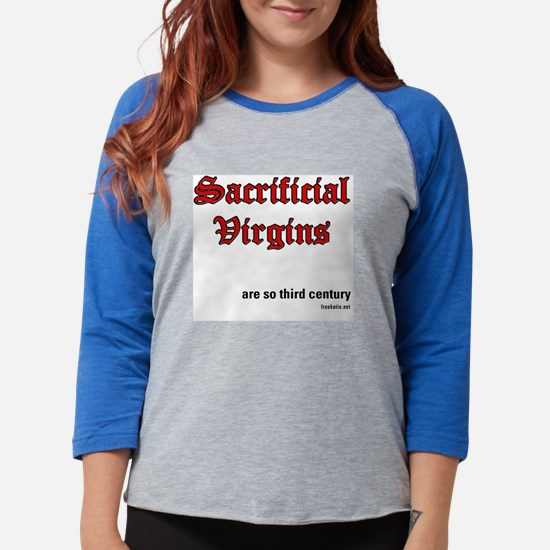 sacrificial_virgins2b.png Womens Baseball Tee