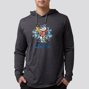 Uncle Cartoon. Custom Text. Mens Hooded Shirt