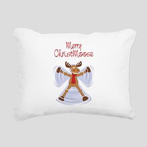 christmoose_card Rectangular Canvas Pillow
