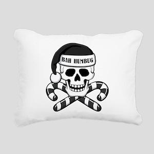 Bah Humbug Skull Rectangular Canvas Pillow