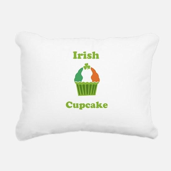 Personalize Irish Cupcake Rectangular Canvas Pillo