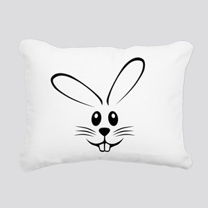 bunny_face_b Rectangular Canvas Pillow