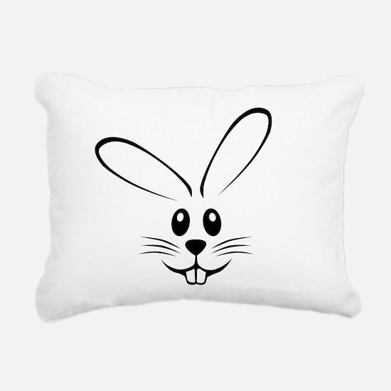 bunny_face_b.png Rectangular Canvas Pillow