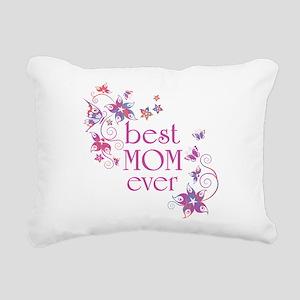 Best Mom Ever 3 Rectangular Canvas Pillow