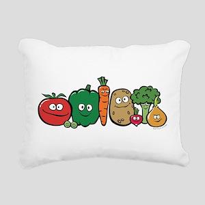 vegeterian Rectangular Canvas Pillow