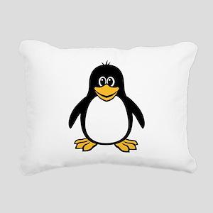 funny_penguin Rectangular Canvas Pillow