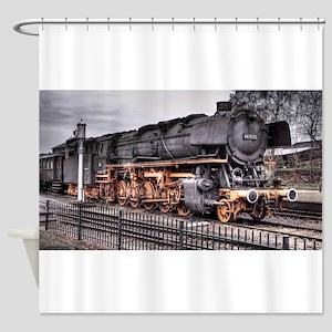 Vintage Locomotive Steam Train Shower Curtain