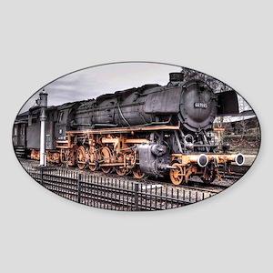 Vintage Locomotive Steam Train Sticker (Oval)