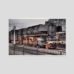 Vintage Locomotive Steam Train Rectangle Magnet