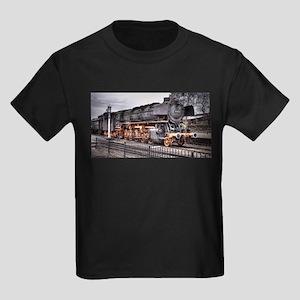 Vintage Locomotive Steam Train Kids Dark T-Shirt