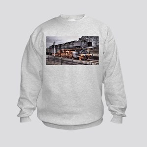 Vintage Locomotive Steam Train Kids Sweatshirt