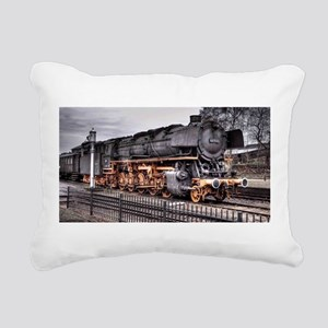 Vintage Locomotive Steam Train Rectangular Canvas