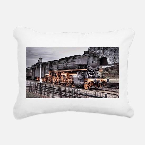 Vintage Locomotive Steam Train Rectangular Canvas