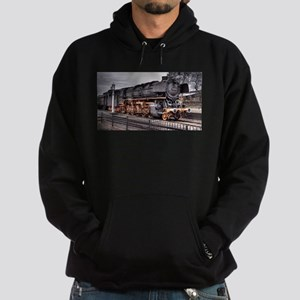 Vintage Locomotive Steam Train Hoodie (dark)