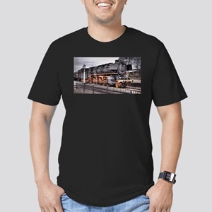 Vintage Locomotive Steam Train Men's Fitted T-Shir