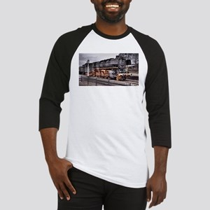 Vintage Locomotive Steam Train Baseball Jersey