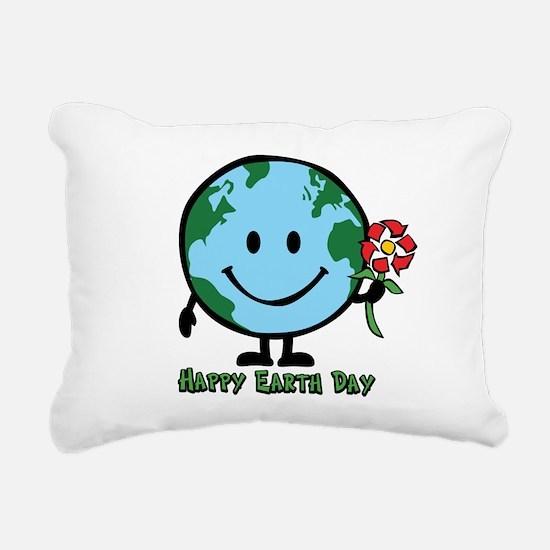 happyearth.png Rectangular Canvas Pillow