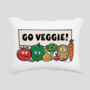 3-vegs Rectangular Canvas Pillow