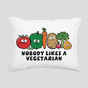nobody_vegeterian Rectangular Canvas Pillow