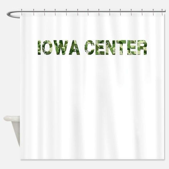 Iowa Center, Vintage Camo, Shower Curtain