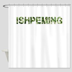 Ishpeming, Vintage Camo, Shower Curtain