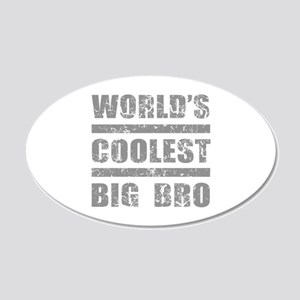 World's Coolest Big Bro 20x12 Oval Wall Decal