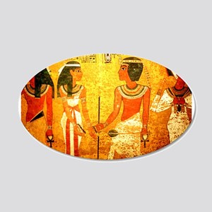 Cool Egyptian Art 20x12 Oval Wall Decal