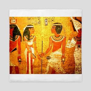 Cool Egyptian Art Queen Duvet