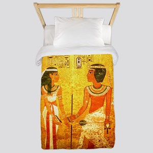 Cool Egyptian Art Twin Duvet