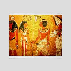 Cool Egyptian Art Throw Blanket