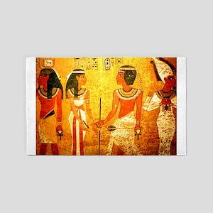 Cool Egyptian Art 3'x5' Area Rug