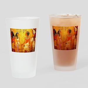 Cool Egyptian Art Drinking Glass