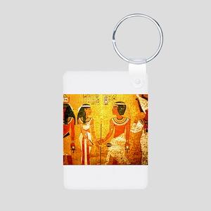Cool Egyptian Art Aluminum Photo Keychain