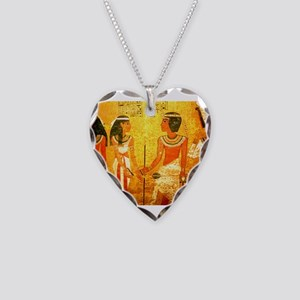 Cool Egyptian Art Necklace Heart Charm