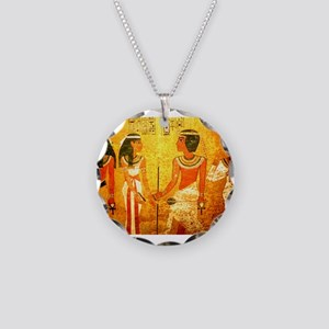 Cool Egyptian Art Necklace Circle Charm