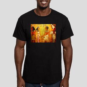 Cool Egyptian Art Men's Fitted T-Shirt (dark)