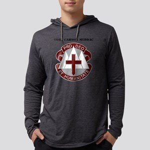 Fort Carson MEDDAC with Text Mens Hooded Shirt