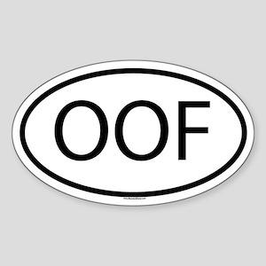 OOF Sticker (Oval)