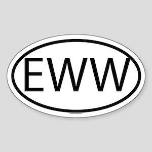 EWW Sticker (Oval)