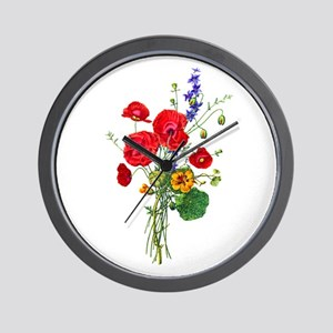 Jean Louis Prevost Bouquet Wall Clock