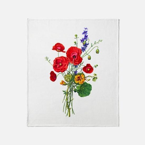 Jean Louis Prevost Bouquet Throw Blanket