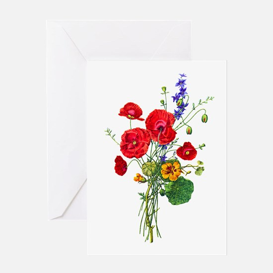 Jean Louis Prevost Bouquet Greeting Card