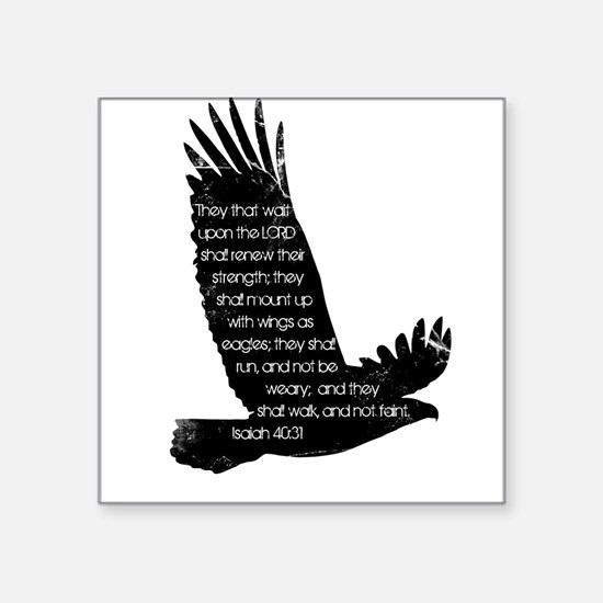 Isaiah 40:31 Eagle Rectangle Sticker