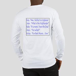 TALLADEGA NIGHTS QUOTE Long Sleeve T-Shirt