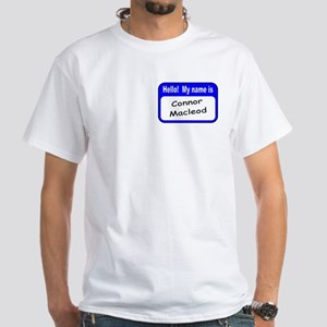 CONNOR NAMETAG White T-Shirt
