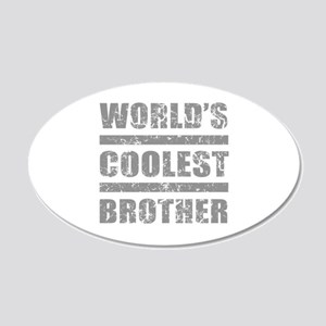 World's Coolest Brother 20x12 Oval Wall Decal