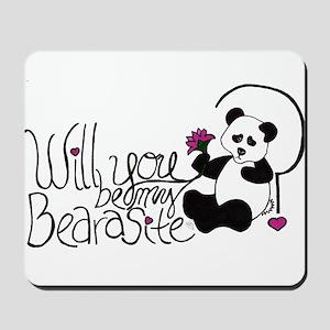 Will you be my BEARasite? Mousepad