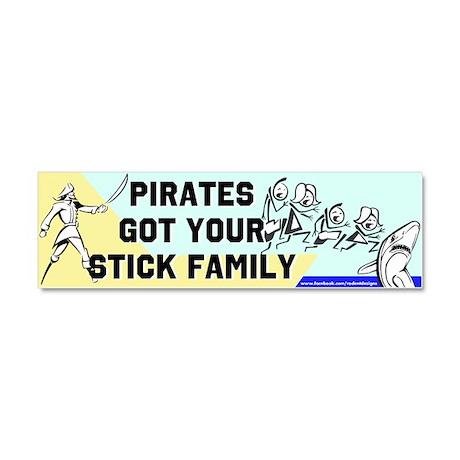 Pirates Got the Sticks Car Magnet 10 x 3