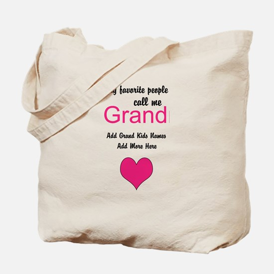 Grandma Personalized Tote Bag